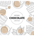 natural chocolate banner template with chocolate vector image vector image