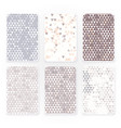 pastel color triangle pattern set with grunge vector image vector image