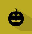 pumpkin halloween icon vector image vector image