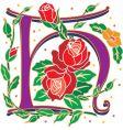 rosette letter H vector image vector image