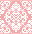 royal pink and white ornamental seamless pattern vector image vector image