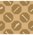 Seamless background with diffrent wrench vector image vector image