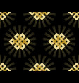 seamless pattern of gold endless knot vector image vector image