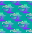 Seamless textures marine ornament with fishes and vector image