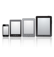 set realistic tablets with blank screen vector image