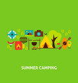 summer camping greeting card vector image vector image