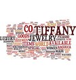 The epiphany of tiffany and co text background vector image