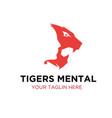 thought tiger roar logo designs vector image vector image