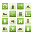 tourism and holiday icons over color background vector image