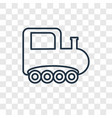 train toy concept linear icon isolated on vector image vector image