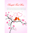 valentine card with birds vector image vector image