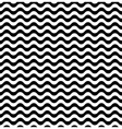 Waves seamless pattern in black and white vector image vector image