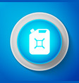 white canister for gasoline icon diesel gas icon vector image vector image