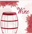 wine barrel wooden vintage image vector image