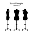 woman body black mannequins vector image