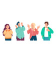 young people man woman boys girls characters vector image