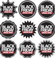 Black friday special offer black signs set vector image