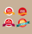 banner set of retro labels special discount vector image