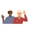 afro american waves hand male character vector image vector image