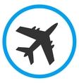 Aircraft Circled Icon vector image vector image