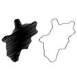 al bahah region map vector image vector image