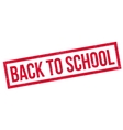 Back To School rubber stamp vector image vector image