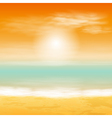 Baech sunset background vector image vector image