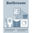 Bathroom flat interior decor infographic vector image