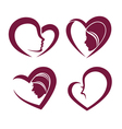 beauty and hearts vector image vector image