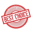 Best choice stamp vector image vector image