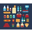 Big set of food products vector image