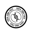 black and white colored gmo free emblems vector image vector image