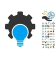 Bulb Configuration Gear Icon With 2017 Year Bonus vector image