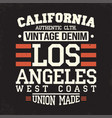california los angeles t-shirt graphics vintage vector image vector image