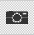 camera icon on isolated background flat vector image vector image