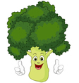 cartoon broccoli giving thumbs up vector image