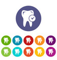 cavity tooth icon simple style vector image vector image