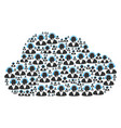 cloud mosaic of support operator icons vector image