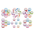 collection hexagon colorful infographics design vector image vector image