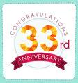 colorful polygonal anniversary logo 3 033 vector image vector image