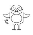 cute line icon bird cartoon vector image vector image