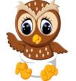 cute owl cartoon vector image