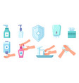 disinfection and cleaning antiseptic spray soap vector image vector image