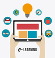 e- learning design vector image