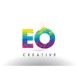 eo e o colorful letter origami triangles design vector image vector image