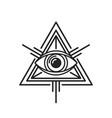eye providence masonic sign on white background vector image