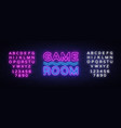 game room neon text gaming neon sign vector image vector image