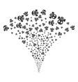 gas mask fountain stream vector image vector image