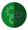 gear teamwork wheel mechanism power icon circle vector image vector image