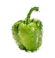 Green sweet pepper of blots vector image vector image